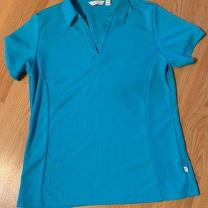 Lady Hegen Golf shirt.